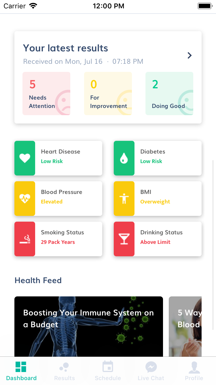 BioMark HealthCare iOS App for Singapore Client